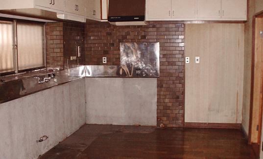 オール電化キッチン 施工前
